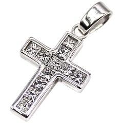 Diamond Platinum Cross Pendant