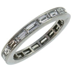 Diamond Platinum Eternity Band Ring Size 6