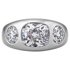 Diamond Platinum Gypsy Band Ring