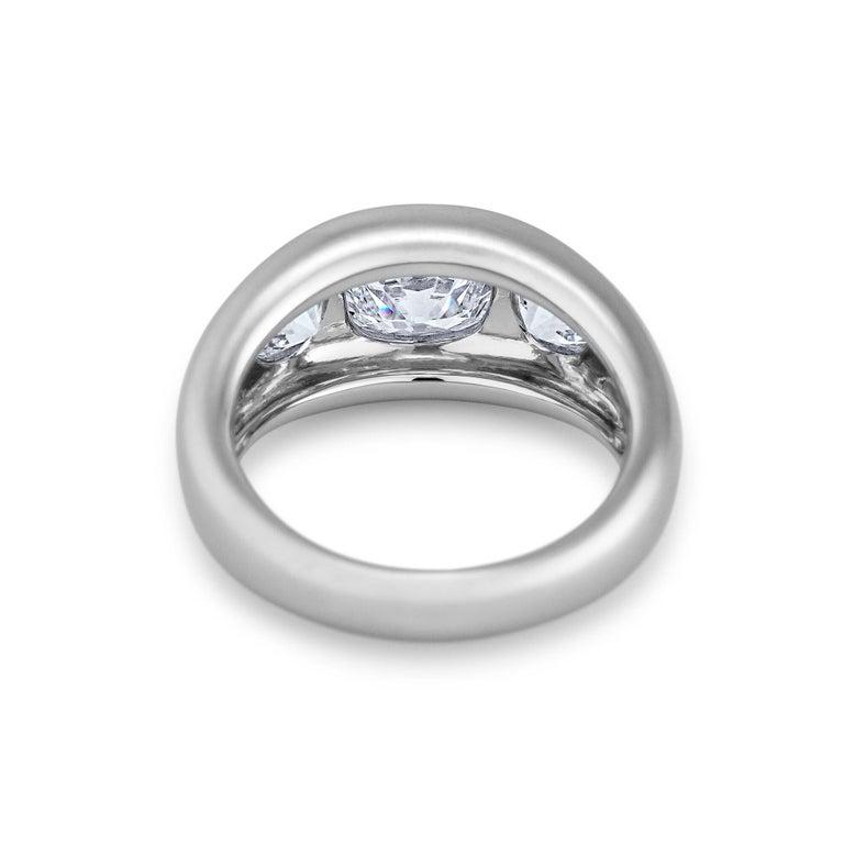 Cushion Cut Diamond Platinum Gypsy Ring For Sale