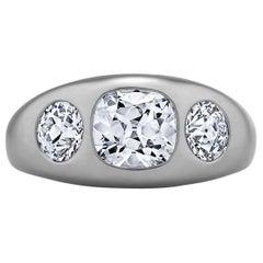 Diamond Platinum Gypsy Ring