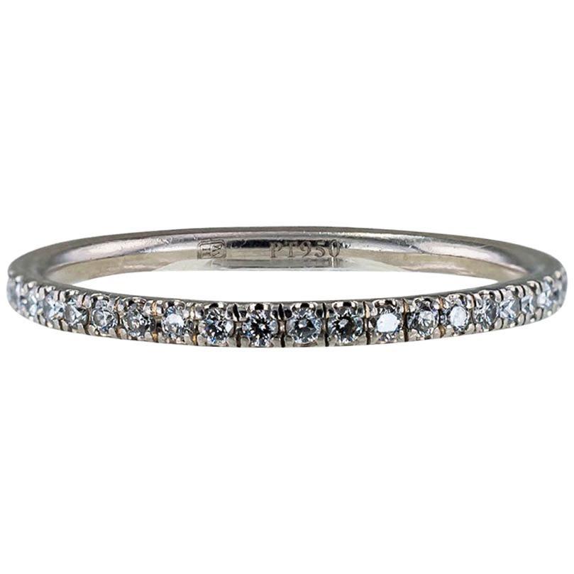 Diamond Platinum Harry Winston Eternity Ring Size 6