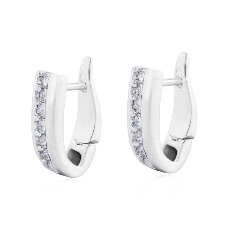 Diamond Platinum Hoop Earrings