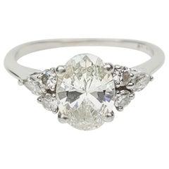 Diamond Platinum Ladies Ring