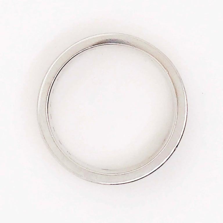 Diamond Platinum Men's Wedding Band, Satin Plat 3/4 Carat Diamond Men's Ring For Sale 2