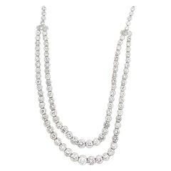 Diamond Platinum Necklace 20+ Carat