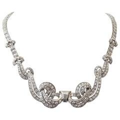 Diamanten Platin Halskette