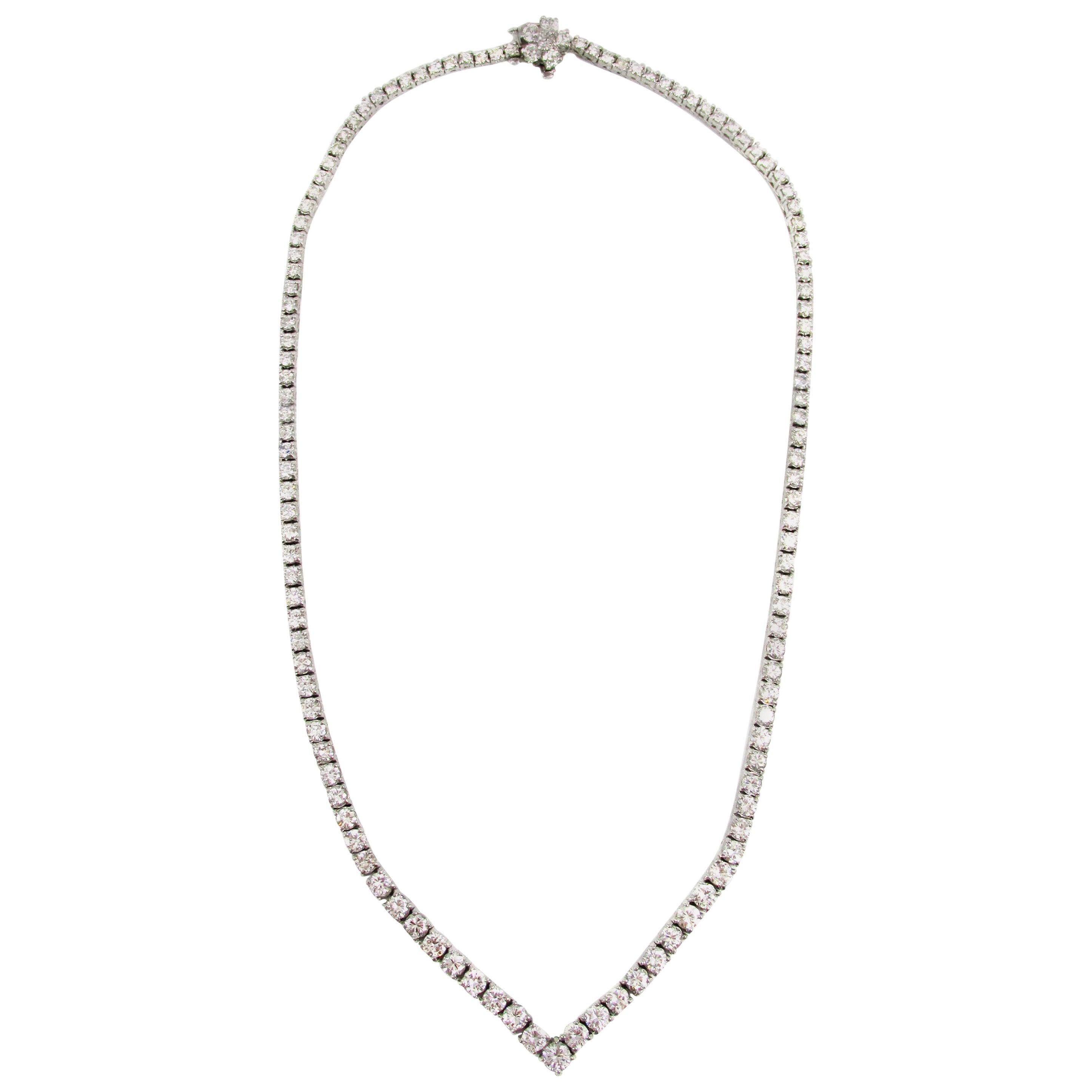 Diamond Platinum Riviere Necklace