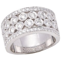 Diamond Platinum Round Brilliant Cut Diamond Dress Ring