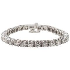 Diamond Platinum Tennis Bracelet