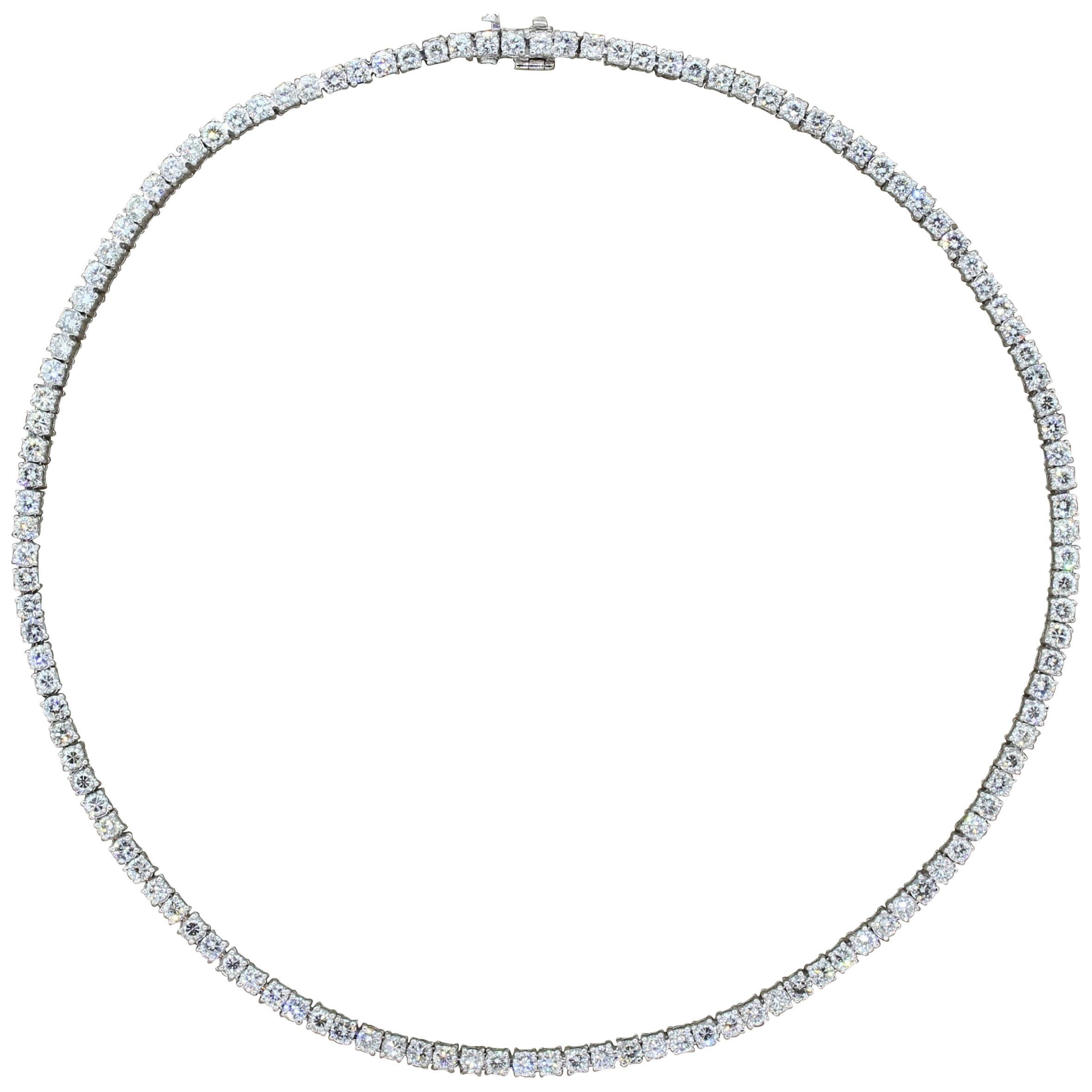 Diamond Platinum Tennis Necklace