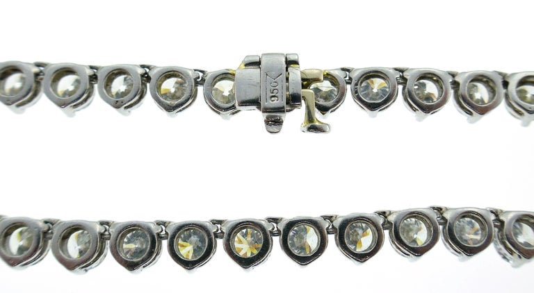 Diamond Platinum Tennis Riviere Necklace Opera Length 5