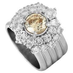 Diamond Platinum Wide Band Ring