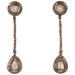 Diamond Polki Dangle Earrings