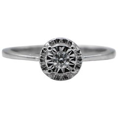 Diamond Ring .10 Carat Sterling Silver