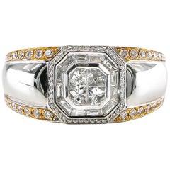 Diamond Ring 1.27 Carat 18 Karat White Gold