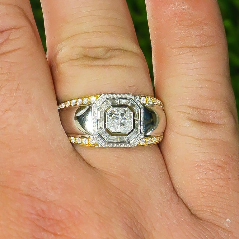 Diamonds = 1.27 Carats  Metal: 18K White Gold  Ring Size: 10  Jewelry Gift Box Included