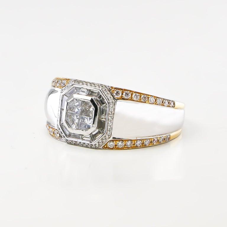 Modern Diamond Ring 1.27 Carat 18 Karat White Gold