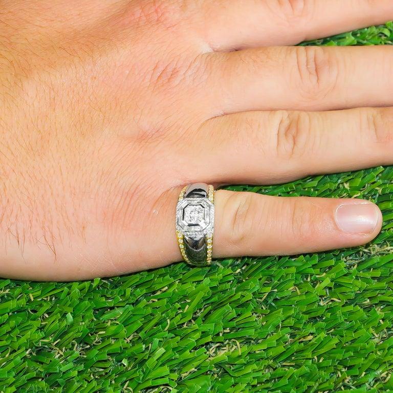 Mixed Cut Diamond Ring 1.27 Carat 18 Karat White Gold