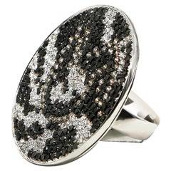 Diamond Ring 6.69 Carat 345 Diamonds 18 Karat Gold