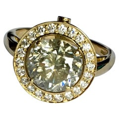 3 Carat Diamond Ring in 18 Carat Yellow Gold