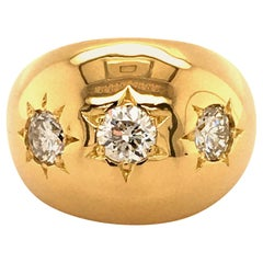 Diamond Ring in 18 Karat Yellow Gold
