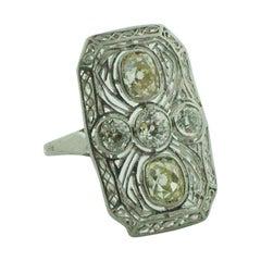 Diamond Ring in Platinum, circa 1920s