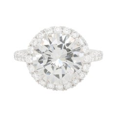 Diamond Ring in Platinum Setting with Micropave Diamonds