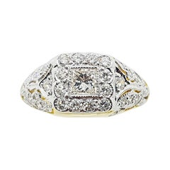 Diamond Ring Set in 18 Karat Gold Settings