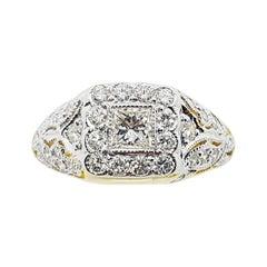 Diamond Ring Set in 18 Karat Gold Settings
