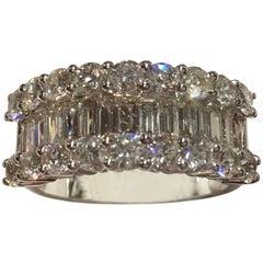 Diamond Ring Set in 18 Karat White Gold