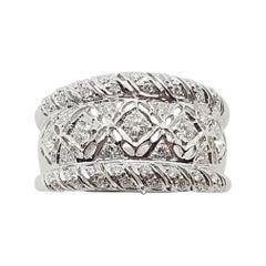 Diamond Ring Set in 18 Karat White Gold Settings