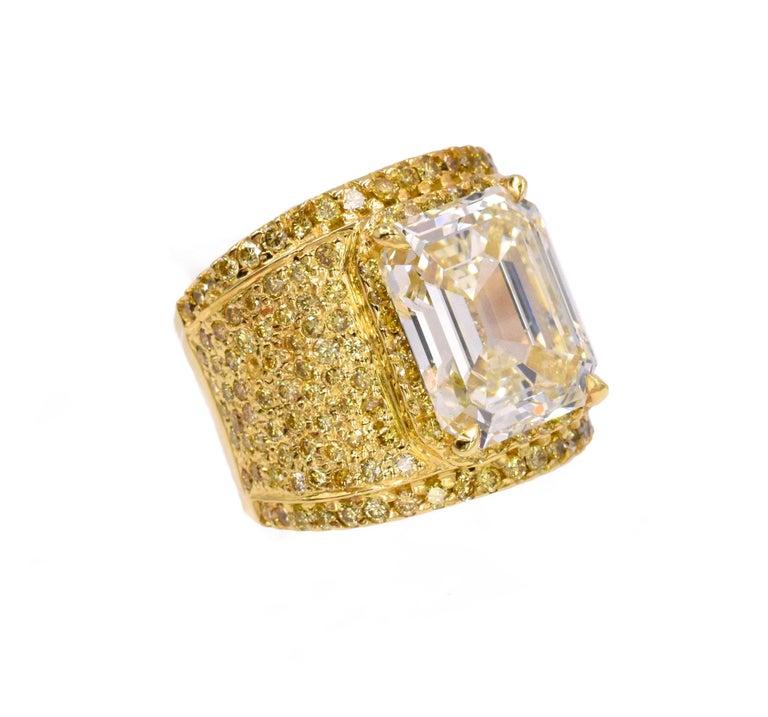 Contemporary NALLY 10.44 Carat Emerald-Cut Diamond Ring  For Sale