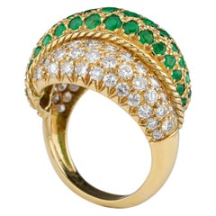 Emeralds, Diamonds & Gold Statement Ring is Old Money Quality