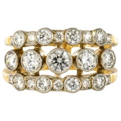 Diamond Ring with Openwork Bands