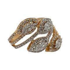 Diamond Ring with Precious Setting Diamonds in 18k Gold