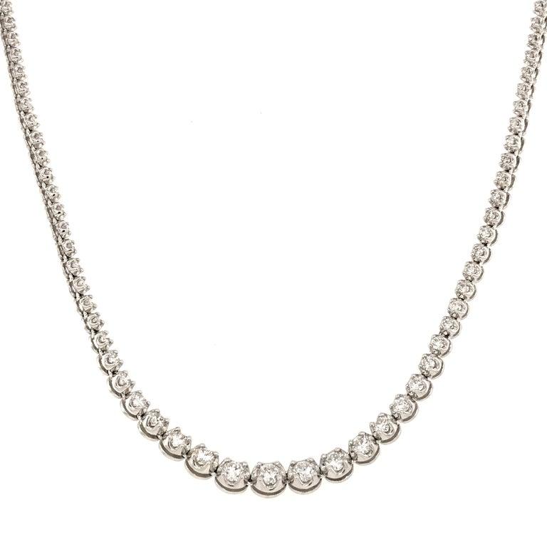 Contemporary Diamond River Necklaces White Gold 18 Karat For Sale