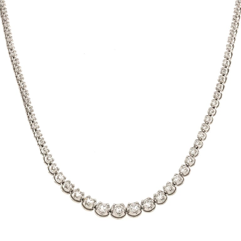 Diamond River Necklaces White Gold 18 Karat In New Condition For Sale In Vannes, FR