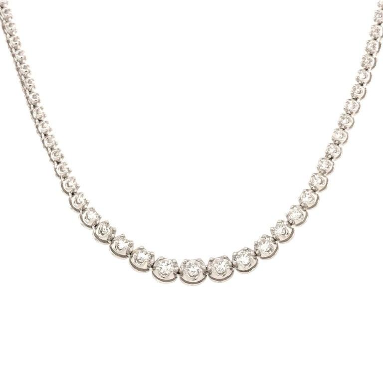 Women's Diamond River Necklaces White Gold 18 Karat For Sale