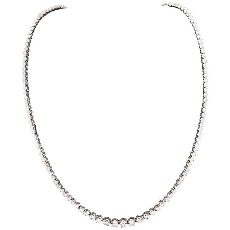 Diamond River Necklaces White Gold 18 Karat For Sale
