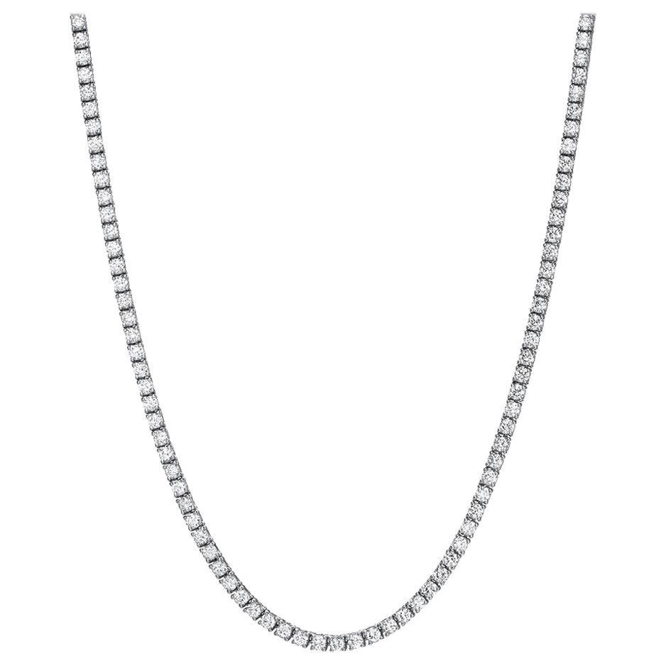 Diamond Riviera Necklace 4.68 Carat F VS2