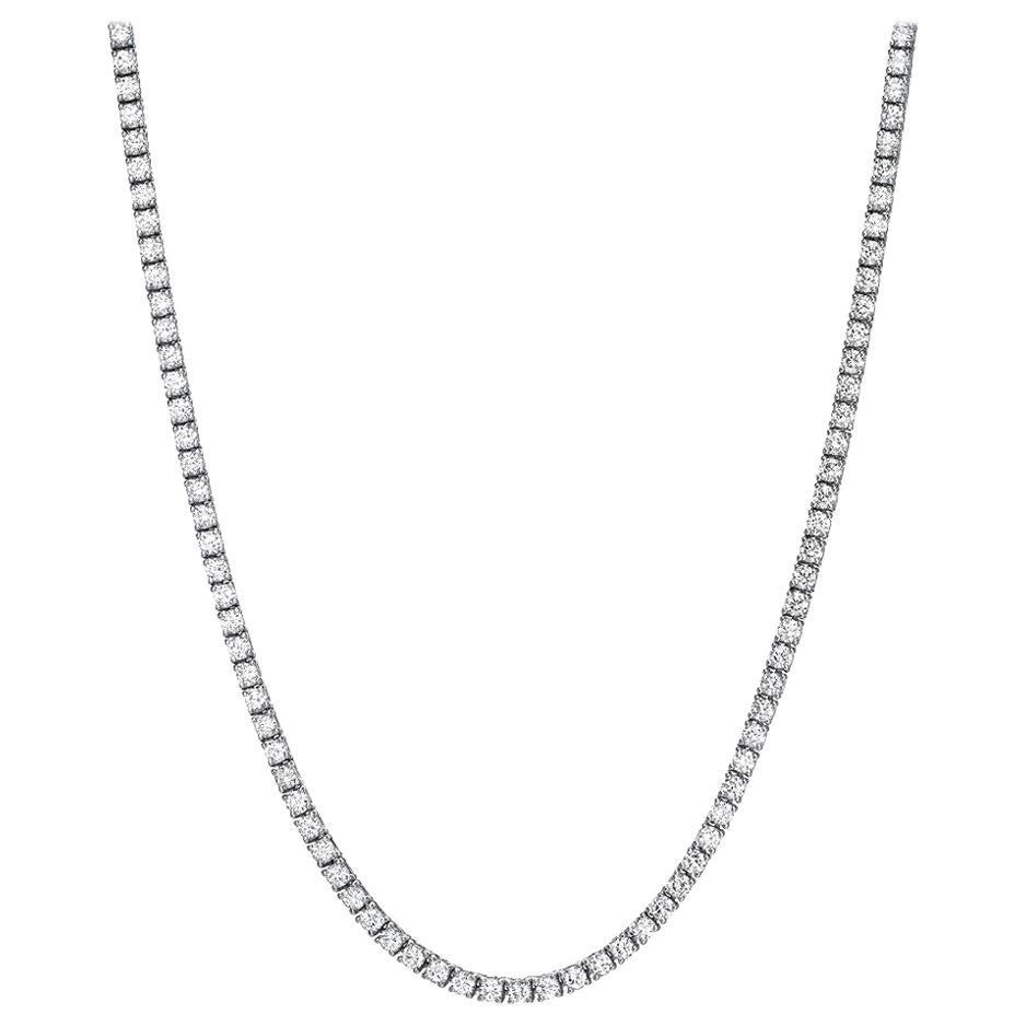 Diamond Riviera Necklace 4.68 Carat G H VS2 SI1