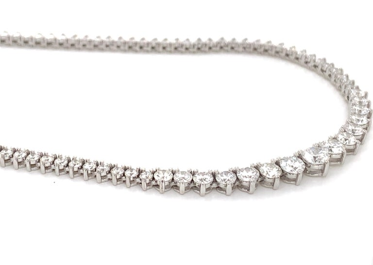 Brilliant Cut Diamond Riviera Necklace For Sale