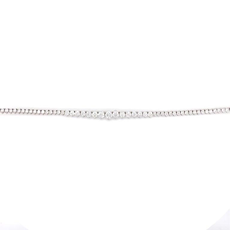 Diamond Riviera Necklace In New Condition For Sale In Miami, FL