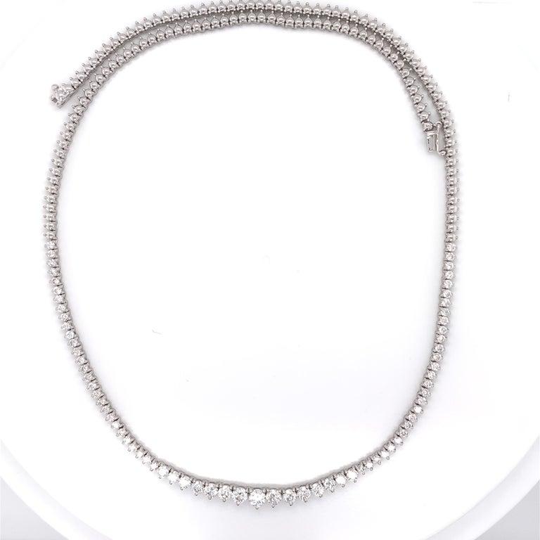 Diamond Riviera Necklace For Sale 1