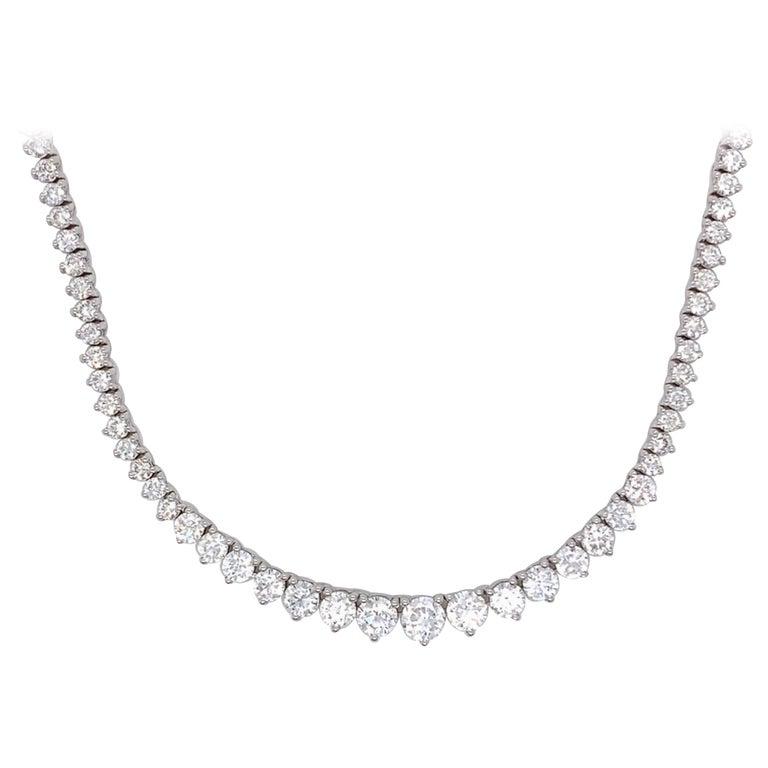 Diamond Riviera Necklace For Sale
