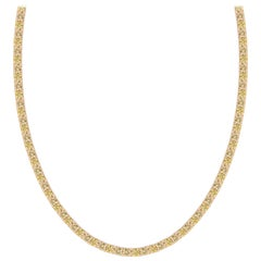 Diamond Riviera Necklace in Yellow Gold