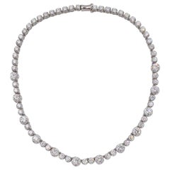 G.I.A. Diamond Riviere Necklace