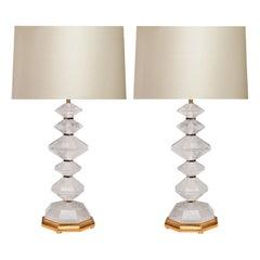 Diamond Rock Crystal Lamps by Phoenix