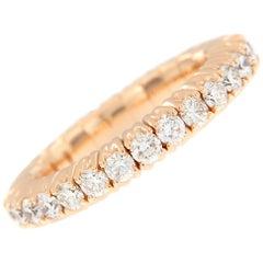 Diamond Rose Gold Flexible Band Ring